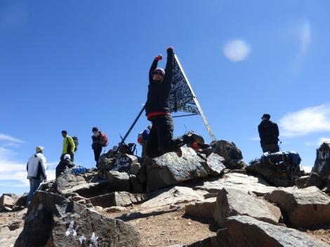 En el Monte Toubkal, Marruecos, abril 2014