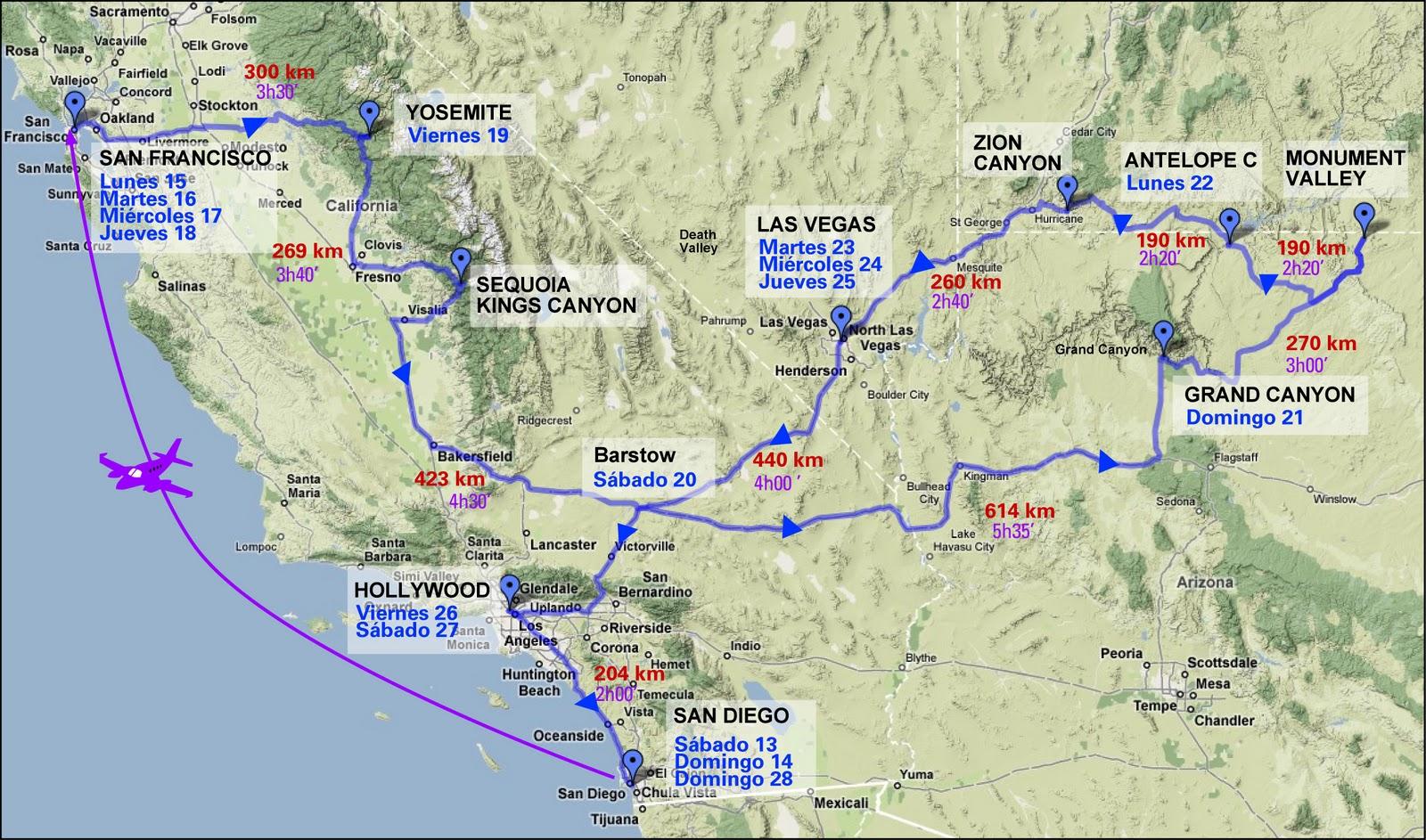 Mapa Eeuu Costa Oeste.Mapas De Estados Unidos Oeste Viajando