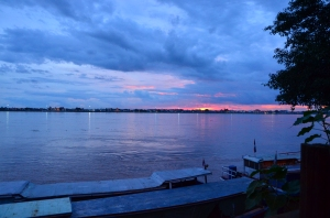 Vistas de Thailandia desde Tha Khaek