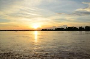 Puesta de sol desde Si Phan Don