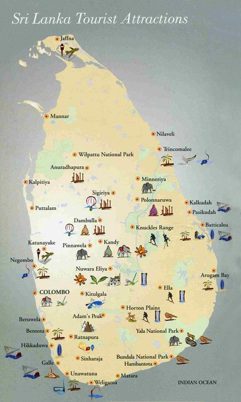 Lugares de interés en Sri Lanka